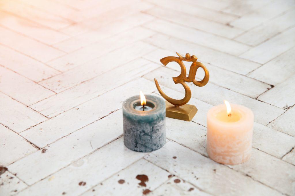 Spiritual accessories and yoga meditation